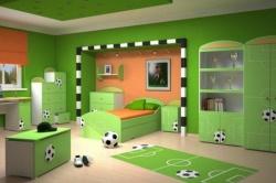 <p><em><strong>Ремонт детской комнаты для будущего футболиста.</strong></em></p>