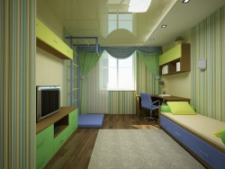 <p><em><strong>Ремонт детской комнаты для мальчика подростка.</strong></em></p>