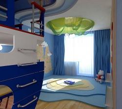 <p><em><strong>Ремонт детской комнаты&nbsp; - Тема море.</strong></em></p>