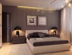 Ремонт и отделка спальни: скромно со вкусом.