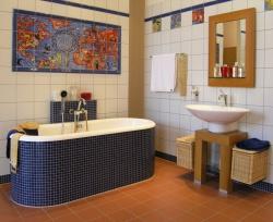 Ремонт и отделка ванной: ванная комната дизайн - уютная ванна.