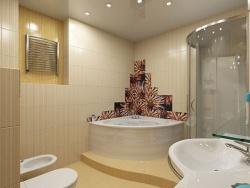 <p><strong><em>Ремонт ванной: ванные комнаты в бежевых тонах.</em></strong></p>