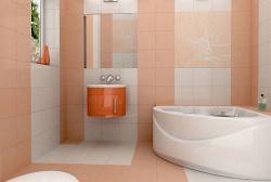 Ремонт ванной: ванная комната в постельный тонах.
