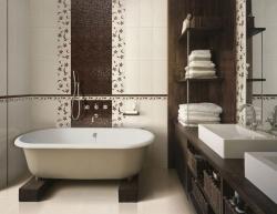 <p><em><strong>Ремонт ванной: стильная ванная комната с элементами дерева.</strong></em></p>