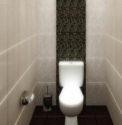 Ремонт и отделка туалета: ремонт туалета стильно.