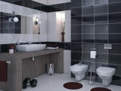 Ванная облицовка стен ванной кафелем. Ремонт и отделка ванной.