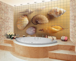 <p><em><strong>Кафель на стены в ванной.&nbsp; Ремонт и отделка ванной.</strong></em></p>