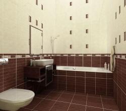 Плитка в ванную комнату шоколадный цвет.  Ремонт и отделка.