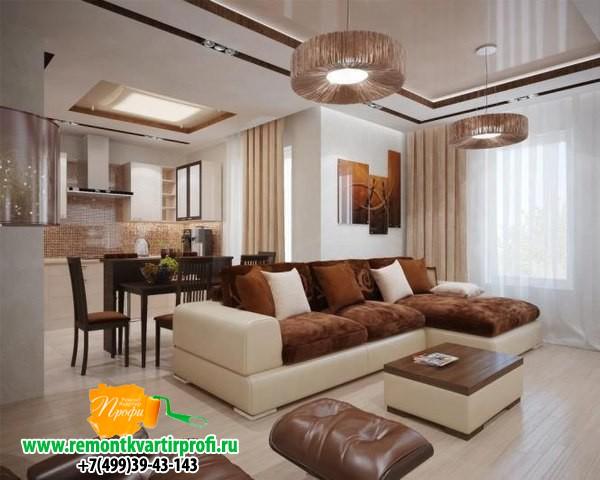Дизайн квартир гостиная кухня