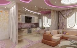 <p><em><strong>Дизайн гостиной совмещенной с кухней. Возможные альтернативы…</strong></em></p>