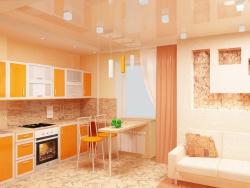 Дизайн кухни гостиной. Дизайн хрущевки в стиле минимализм.