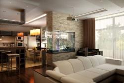 Интерьер кухни гостиной: дизайн гостинки совмещенной с кухонным