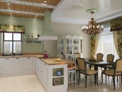 Интерьер кухни совмещенной с гостиной. Ремонт и отделка.