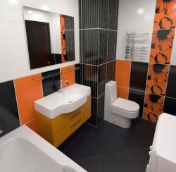 <p>Дизайн маленькой ванной комнаты совмещенной с туалетом</p>