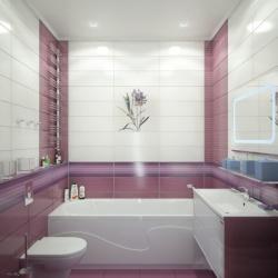 <p>Дизайн ванной совмещенной с туалетом</p>