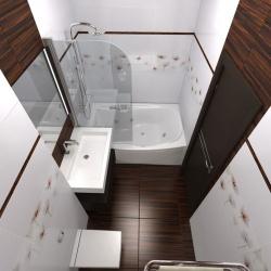 <p>Совмещенная ванна с туалетом</p>