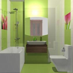Ванные комнаты совмещенные с туалетом фото