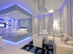 Отделка комнаты спальни