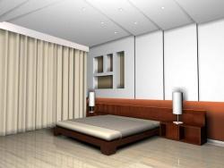 <p>Отделка спальни панелями</p>