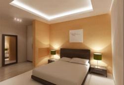 <p>Декоративная отделка стен в спальне</p>