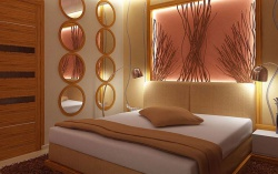 Интерьер комнаты спальни