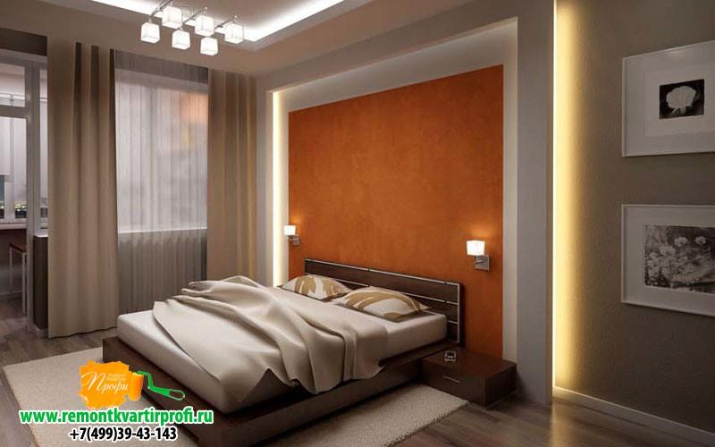 Потолки из гипсокартона с подсветкой в спальне