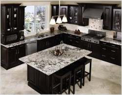Ремонт и отделка кухни: дизайн кухни. Темный шоколад.