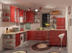 Дизайн кухни: интересное световое решение.