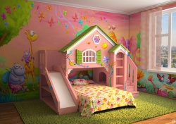 <p><em><strong>Ремонт детской комнаты&nbsp; для девочки: Комната сказка.</strong></em></p>