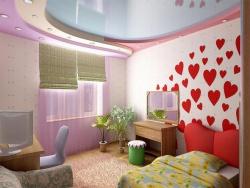 Ремонт детской комнаты для девочки. Забавные сердечки напоминают нашим дочуркам о нашей безграничной любви.