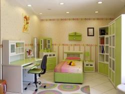 <p><em><strong>Ремонт и отделка детской для девочки&nbsp; с элементами цветов.</strong></em></p>